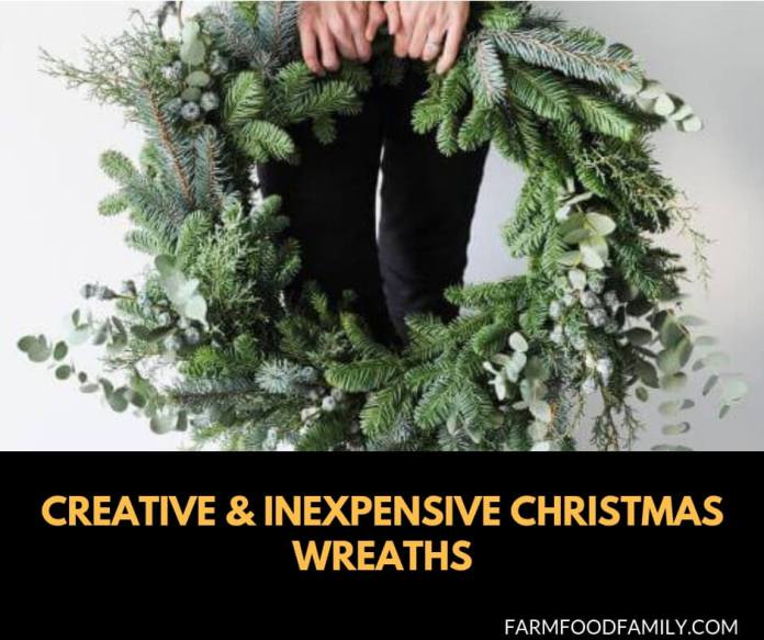 Creative, Easy, and Inexpensive Christmas Wreath Ideas