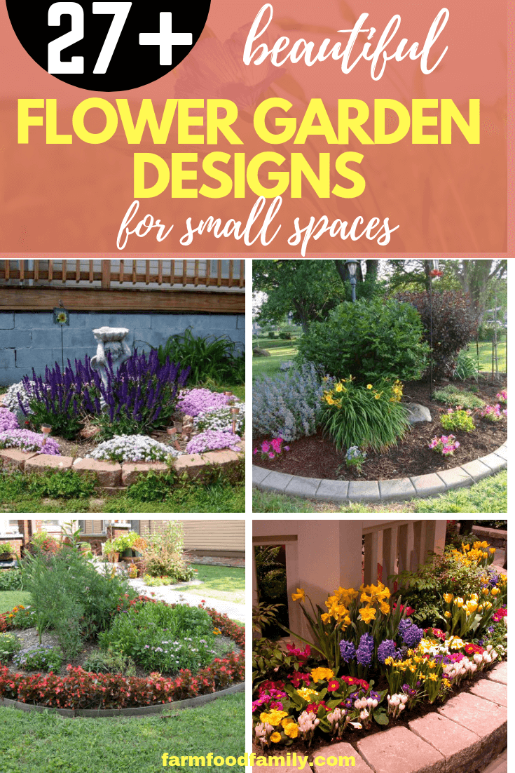 27+ Flower Garden Designs for a Small Space - FarmFoodFamily
