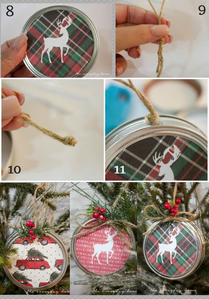 Lid Christmas Ornament | Cute and Easy Christmas Ornament Ideas
