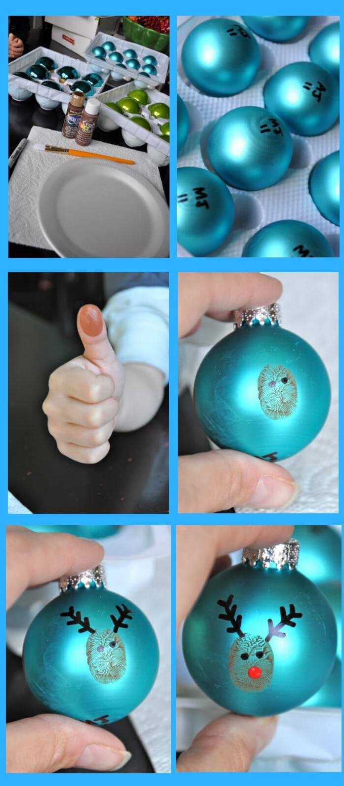 Thumbprint Ornaments | Cute and Easy Christmas Ornament Ideas