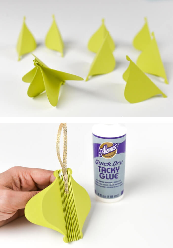 Retro cut paper ornaments | Cute and Easy Christmas Ornament Ideas