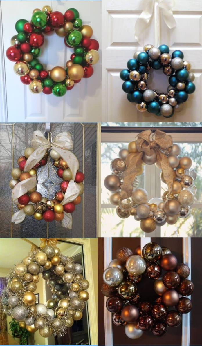 Wreath wire hangers | Cute and Easy Christmas Ornament Ideas