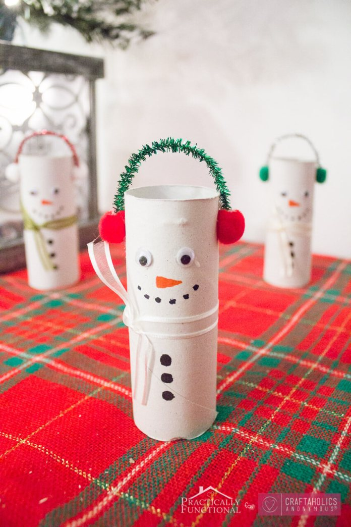DIY Toilet Paper Roll Snowmen | Easy, Inexpensive, and Creative Christmas Crafts for Kids