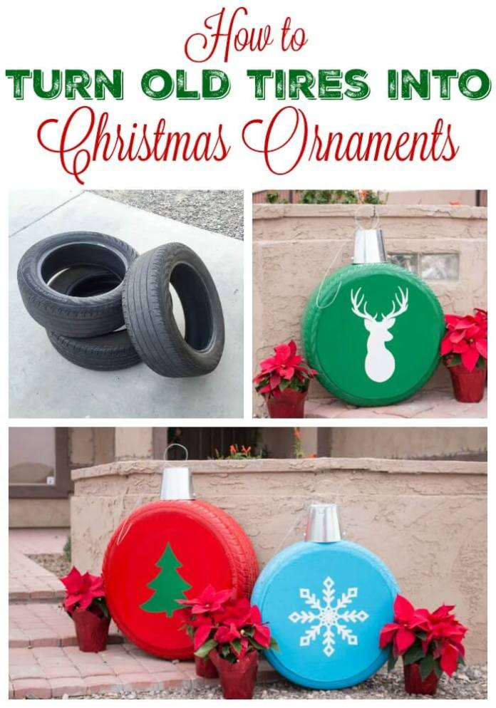 How To Make Giant Christmas Ornaments From Old Tires