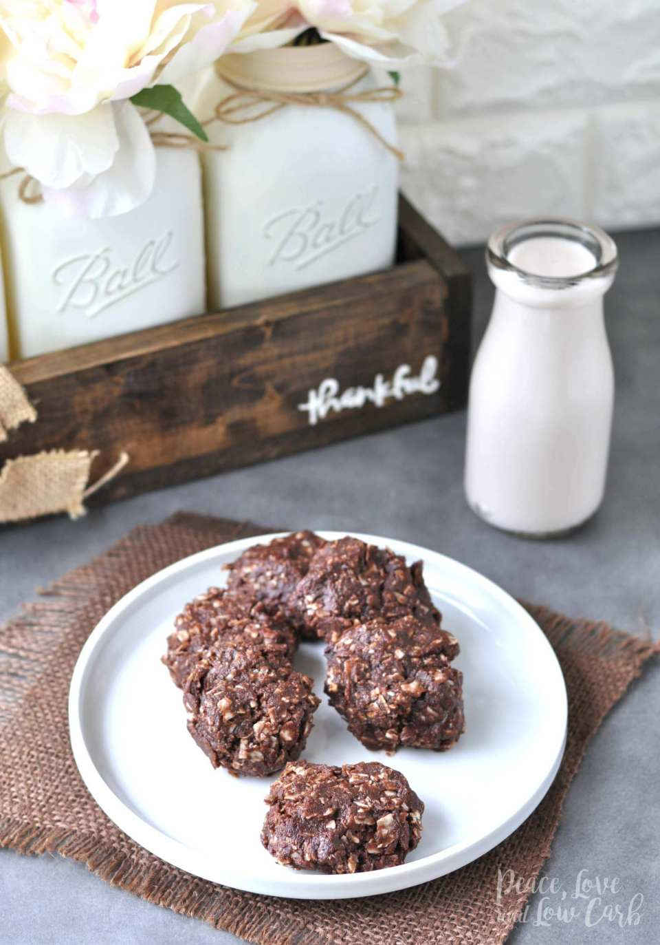 Chocolate Peanut Butter Keto No Bake Cookies