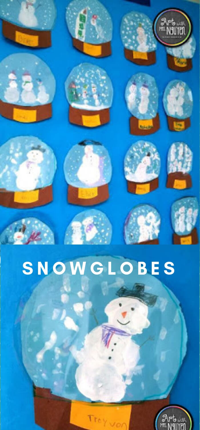 Snowglobes | Christmas Craft Ideas for Preschoolers