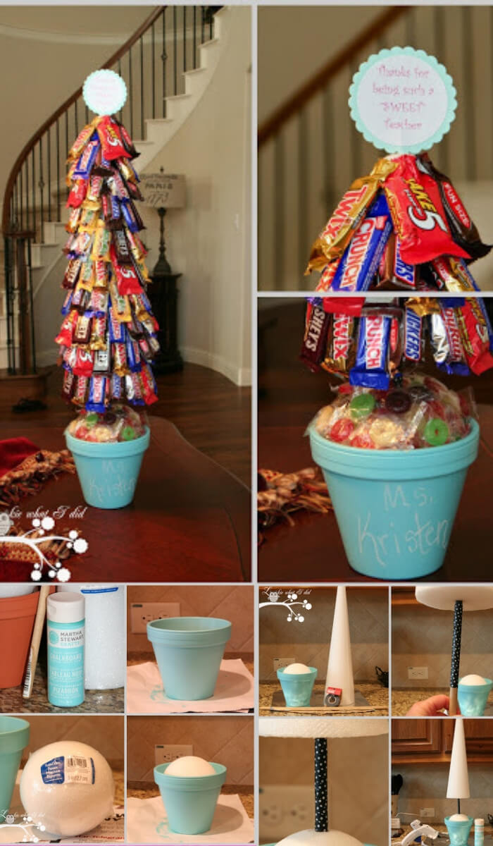Candy Topiary | Last Minute Christmas Ideas and Hacks