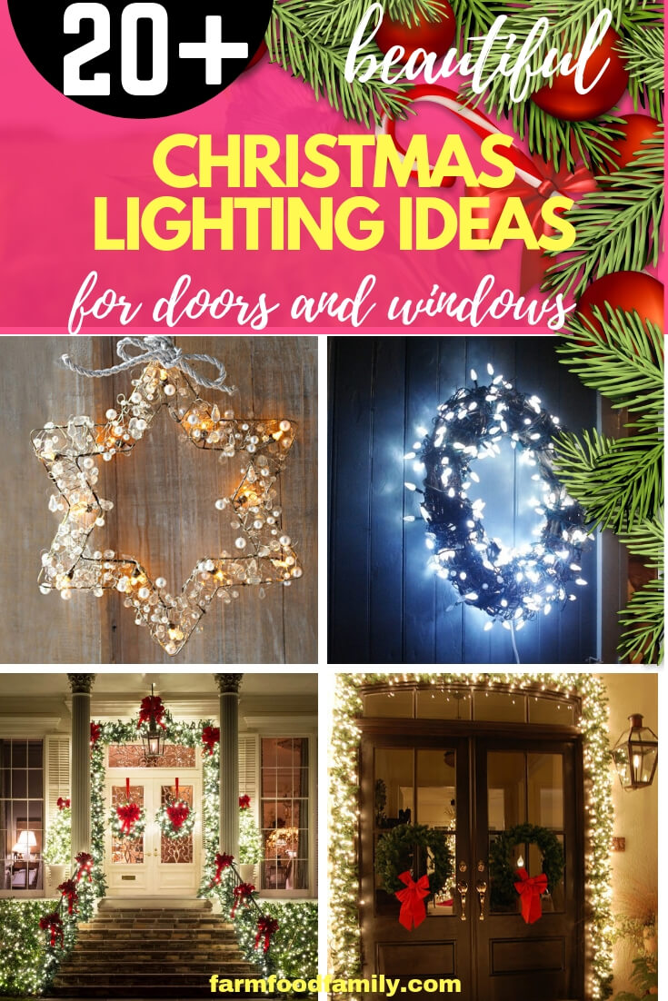 Decorating Doors and Windows with Holiday Lights