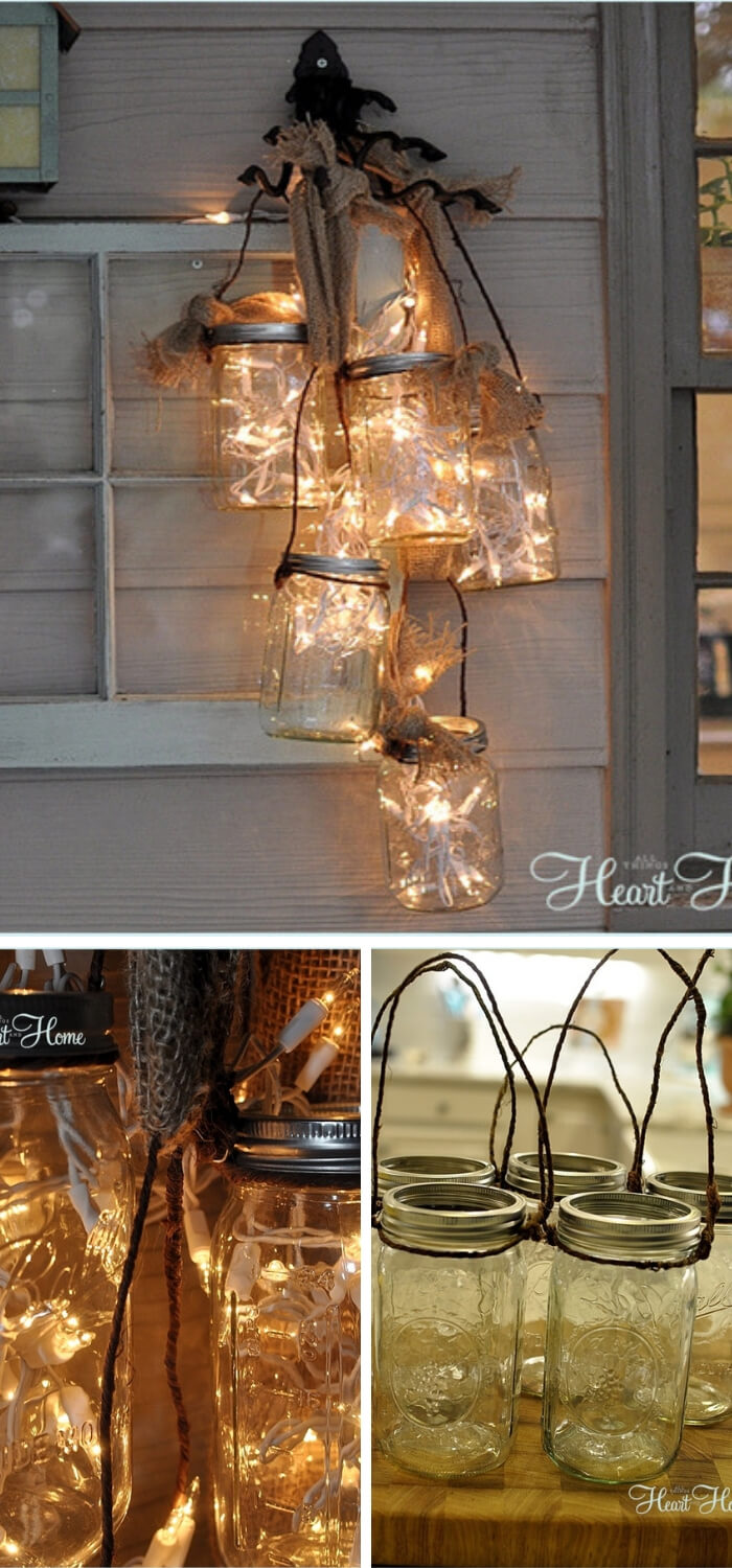 DIY Mason Jar Light | Christmas Door and Window Lighting Decorating Ideas