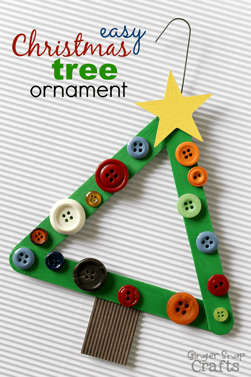 Christmas Tree Ornament | Homemade Ornaments | Easy, Inexpensive, and Creative Christmas Crafts for Kids