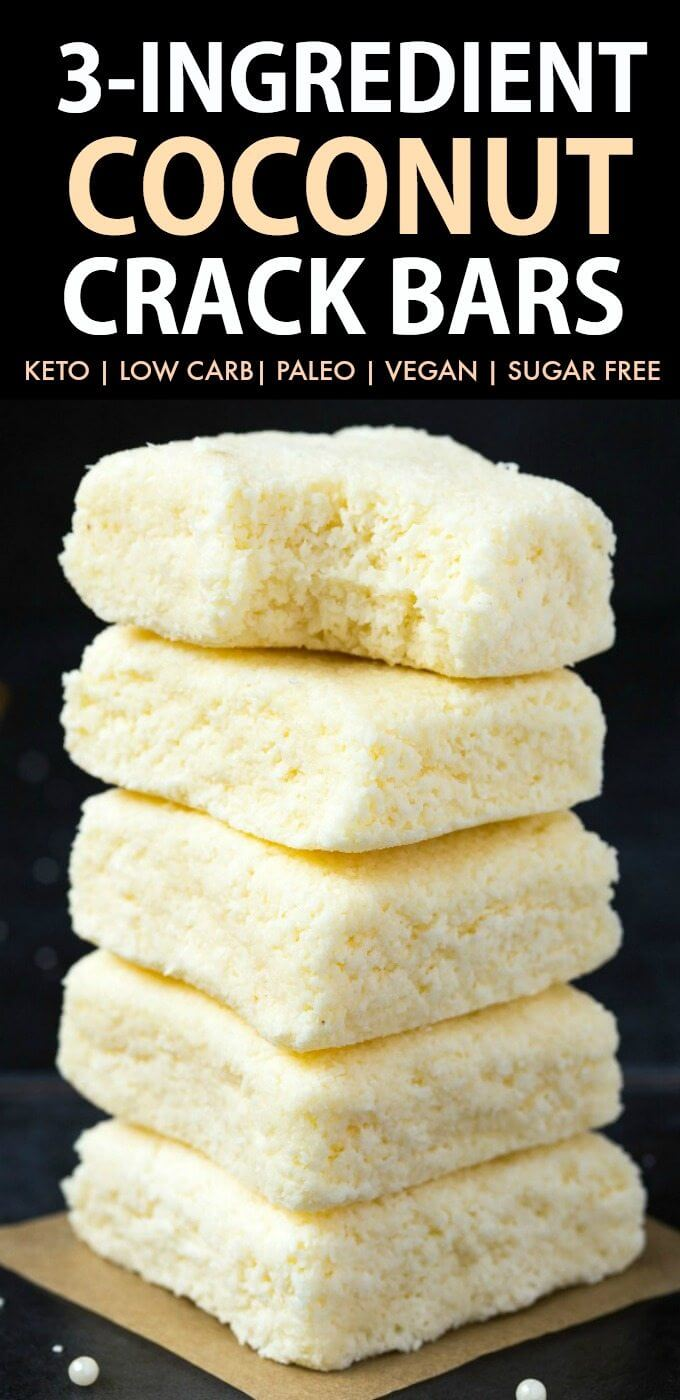Keto No Bake Coconut Crack Bars