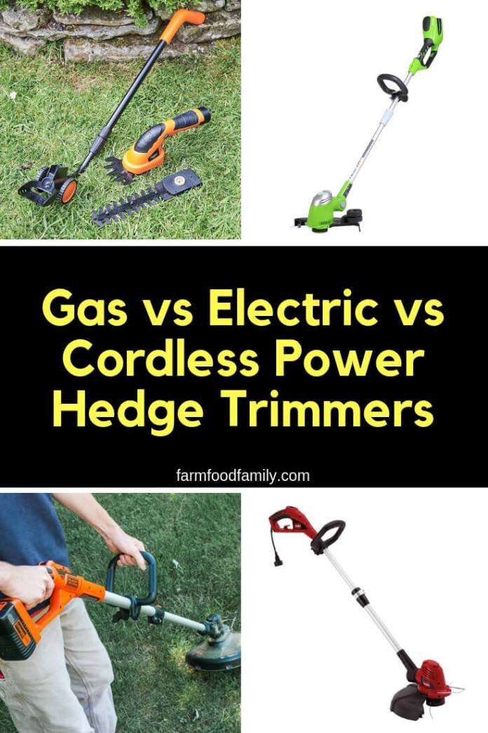 Gas vs Electric vs Cordless Power Hedge Trimmers