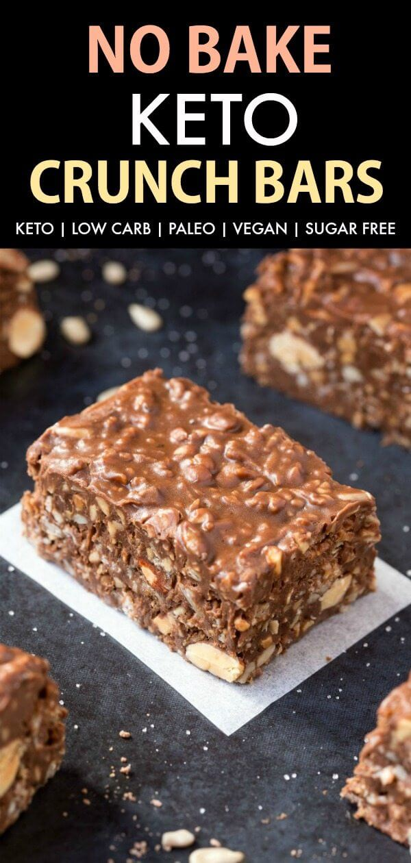 Keto No-Bake Chocolate Crunch Bars