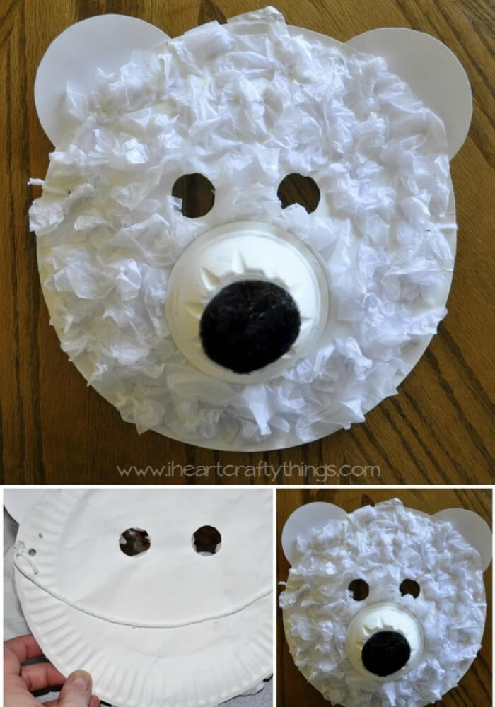 Polar Bear Masks | Christmas Craft Ideas for Preschoolers