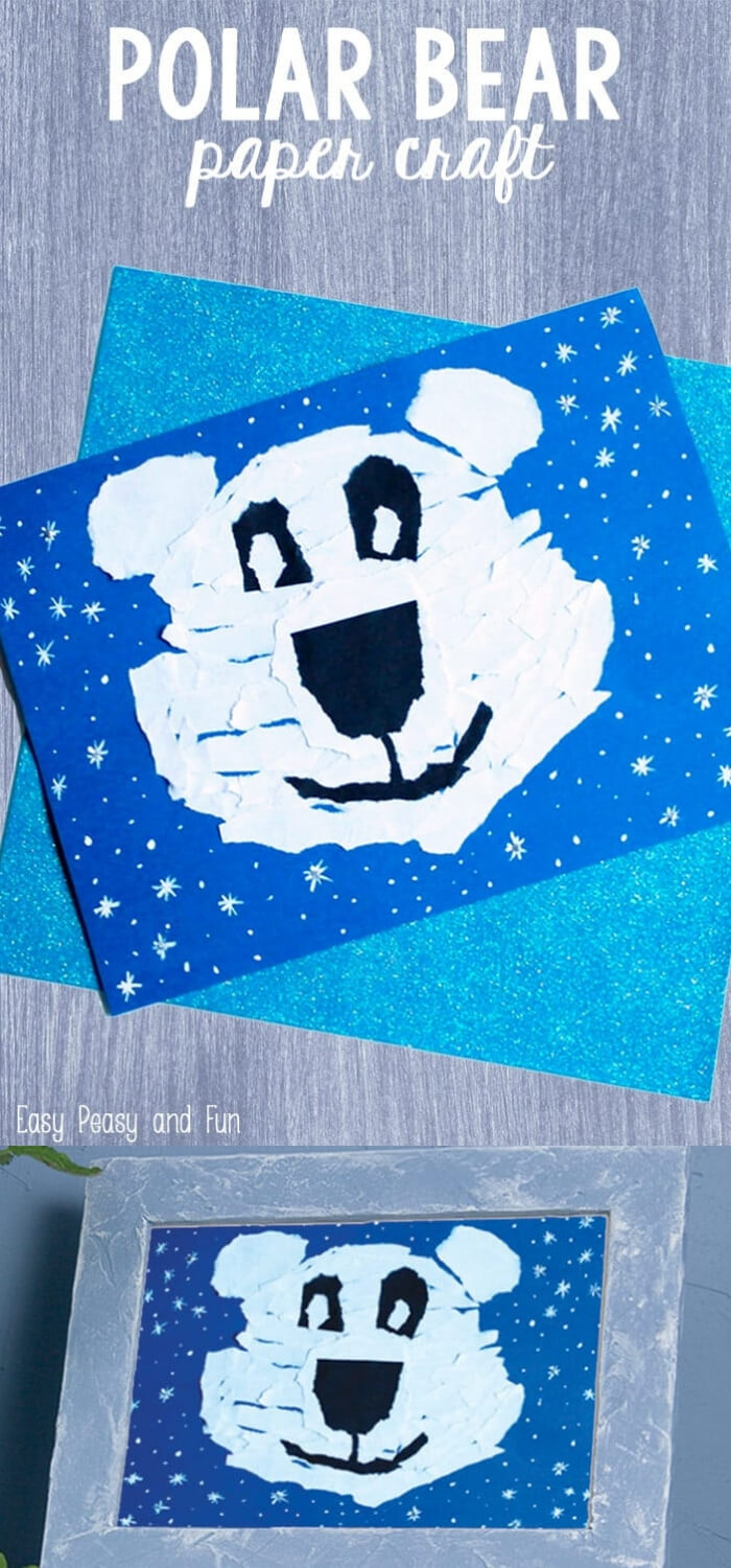Polar Bear Paper | Christmas Craft Ideas for Preschoolers