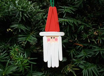 Santa Stick | Homemade Ornaments | Easy, Inexpensive, and Creative Christmas Crafts for Kids