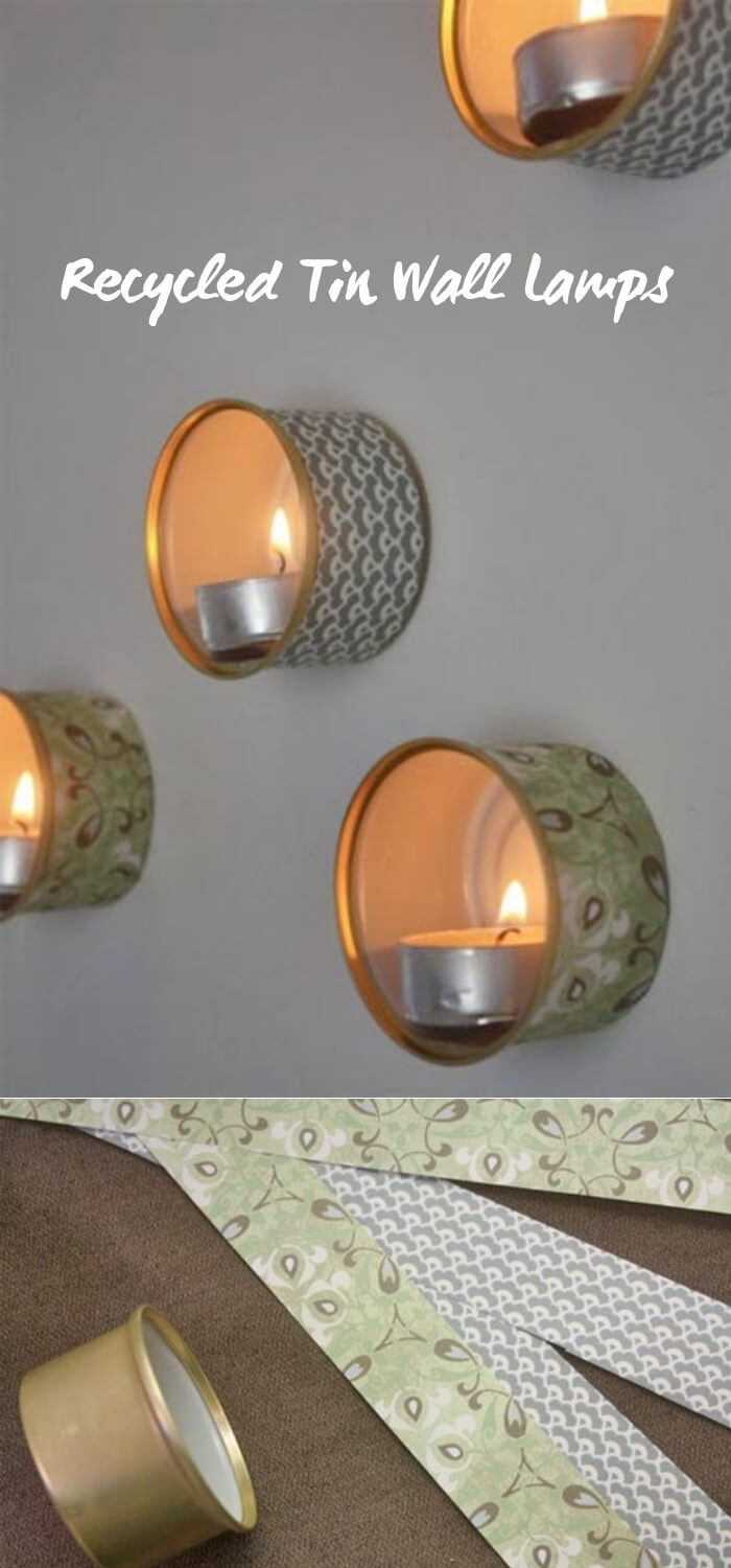 Recycled Tin Wall Lamps | Personalized Christmas Gifts from Recycled Tins