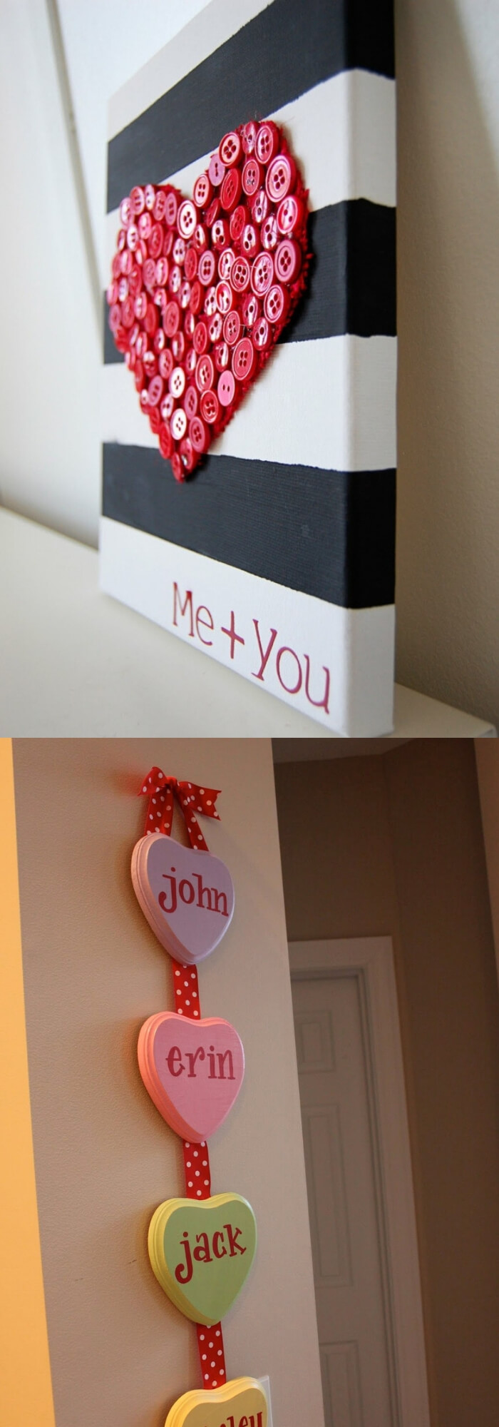 Candy Hearts | Valentine's Day Decorating Ideas For Your Lovers | FarmFoodFamily.com