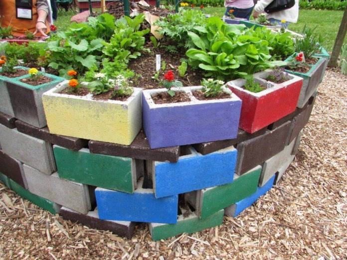 Raised Bed Gardening with Concrete Blocks