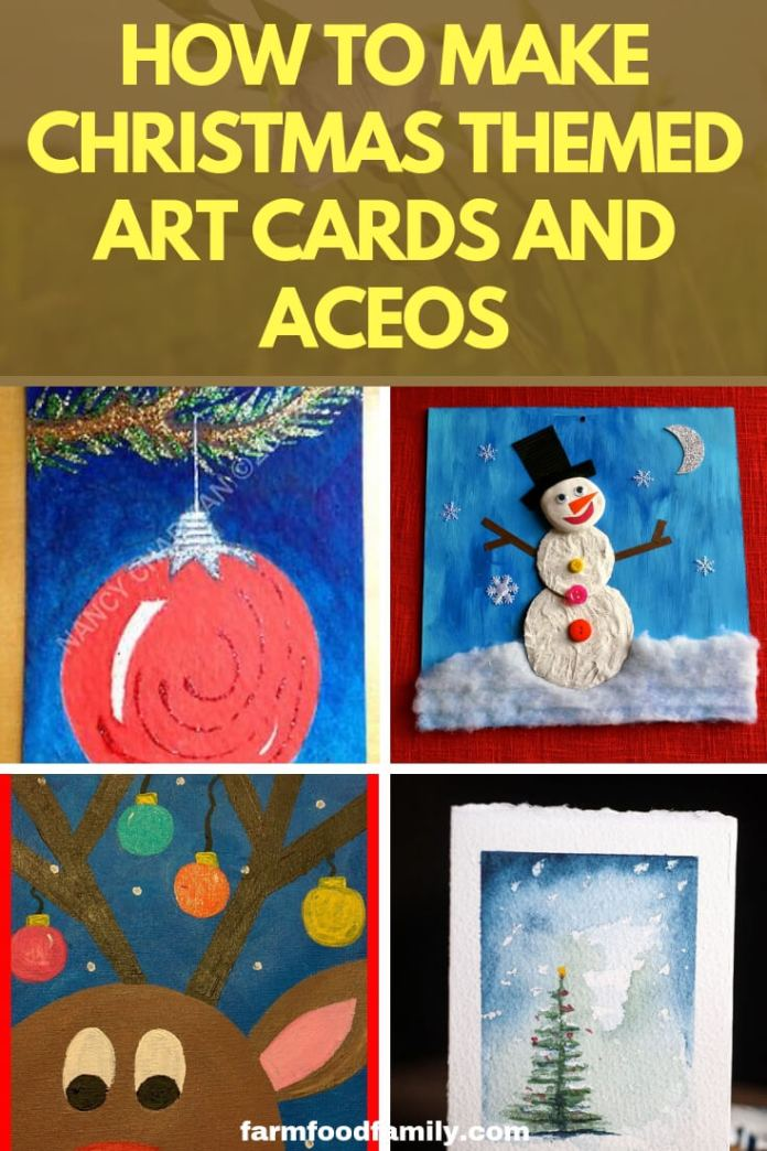 How to Make Christmas Themed Art Cards and ACEOs