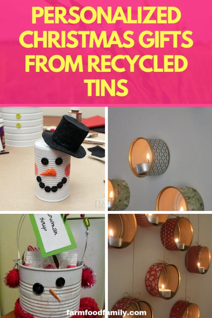 Christmas gifts: Personalized Christmas Gifts from Recycled Tins
