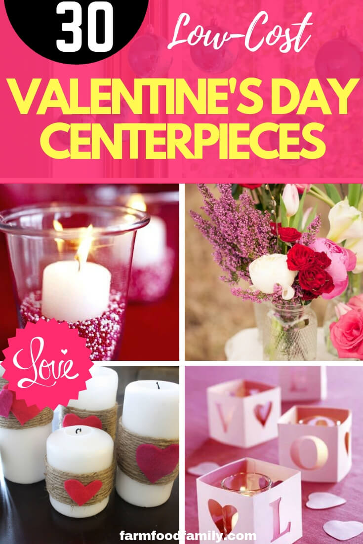 No-Cost or Low-Cost Valentine's Day Centerpieces