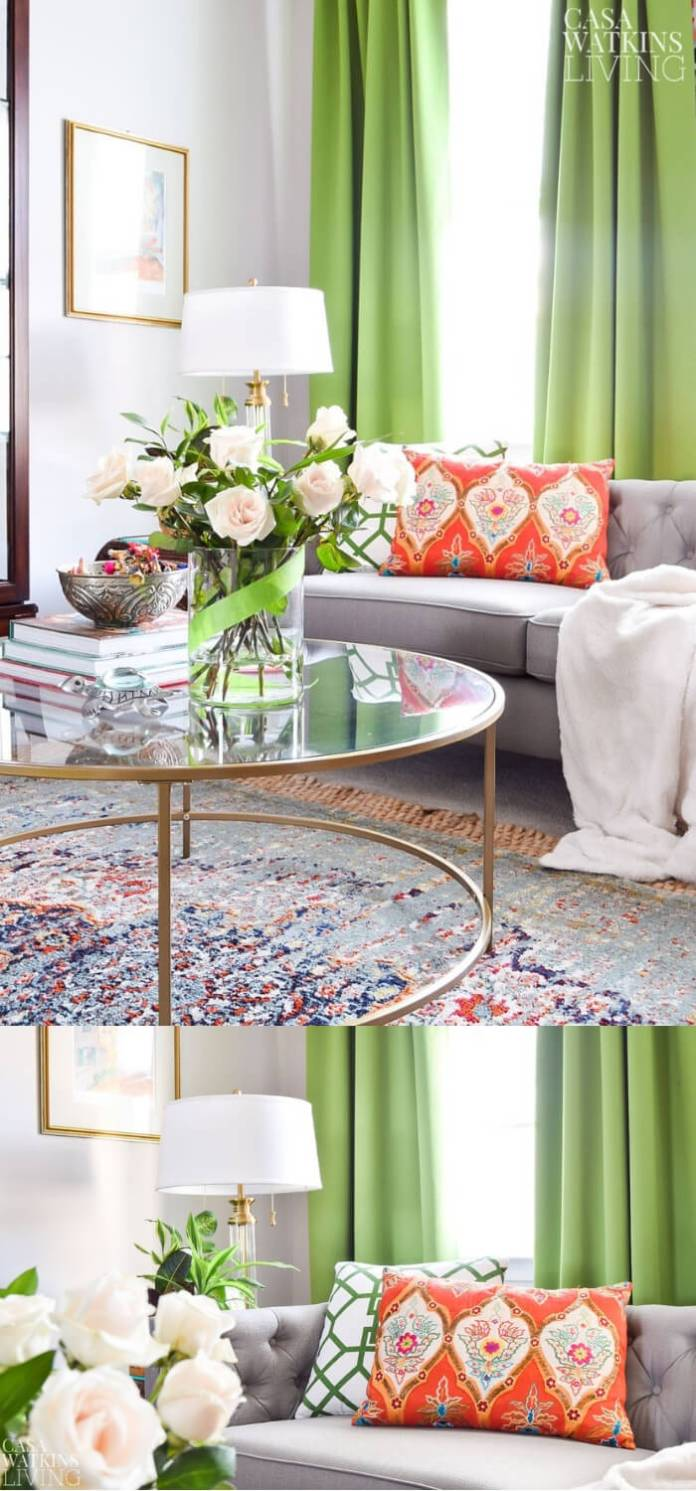 Quick Decorating Changes for Spring: Coffee table with bohemian decor