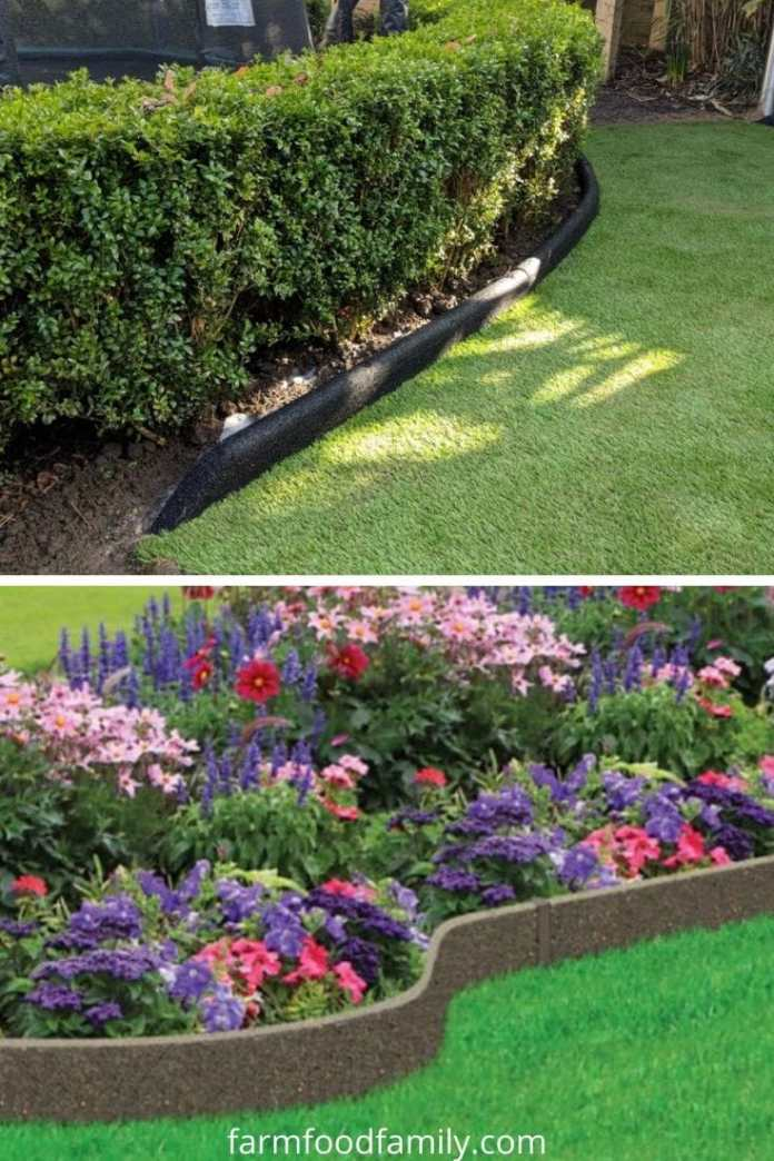 Rubber garden edging ideas