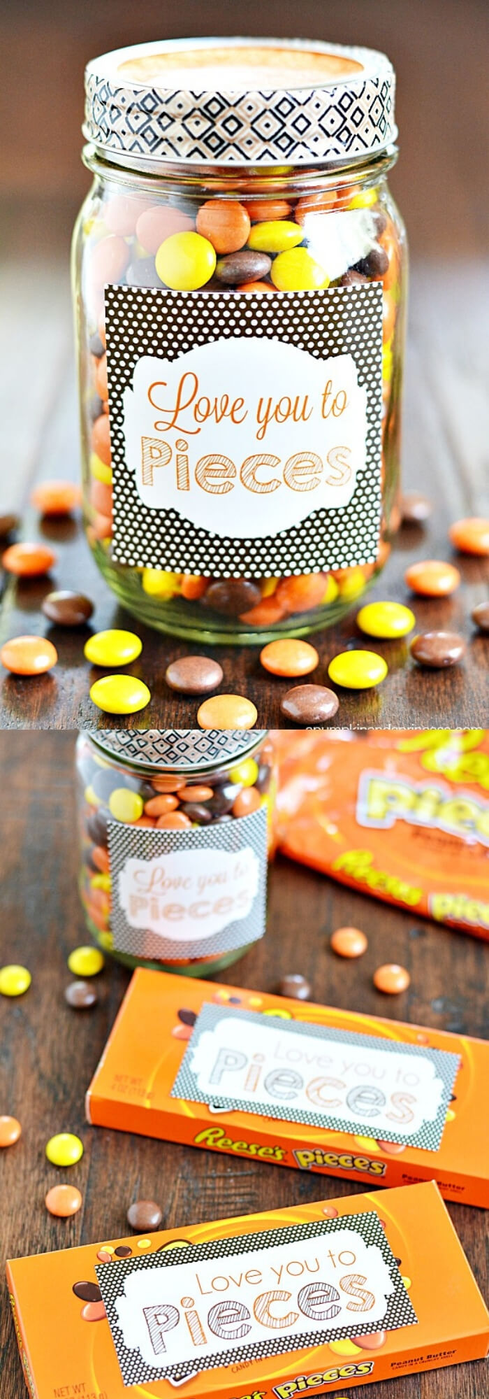 Love You To Pieces | DIY Mason Jar Gift Ideas For Valentine's Day | FarmFoodFamily.com