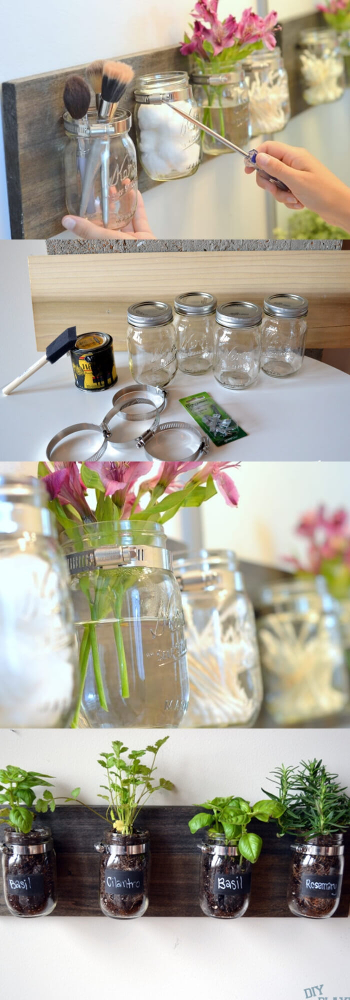 Mason Jar Organizer | Keep a Small Bathroom Organized and Clutter-Free