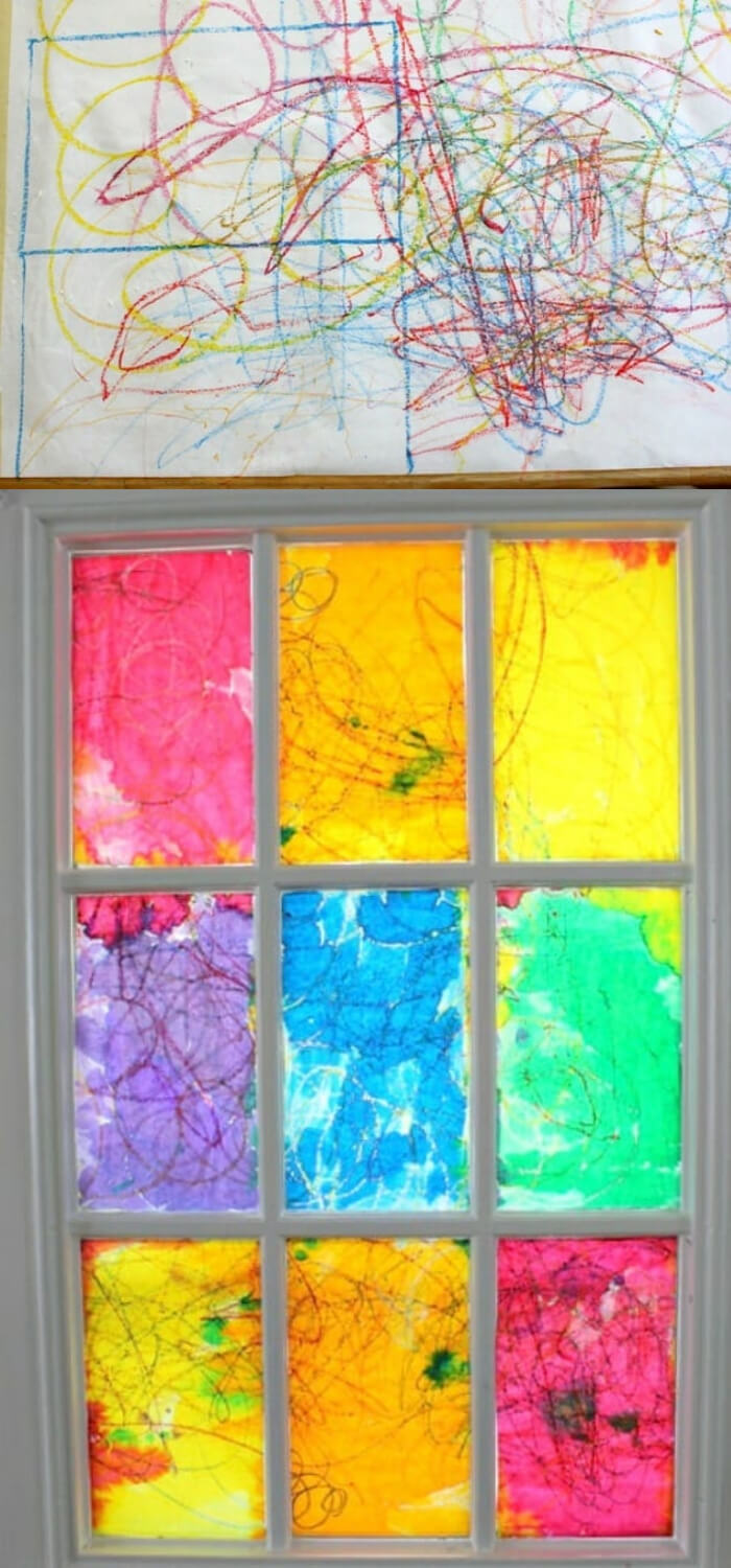 Children's Holiday Craft Ideas – Faux Stained Glass Valentine's Day Window Hangings | A DIY Rainbow Stained Glass Window
