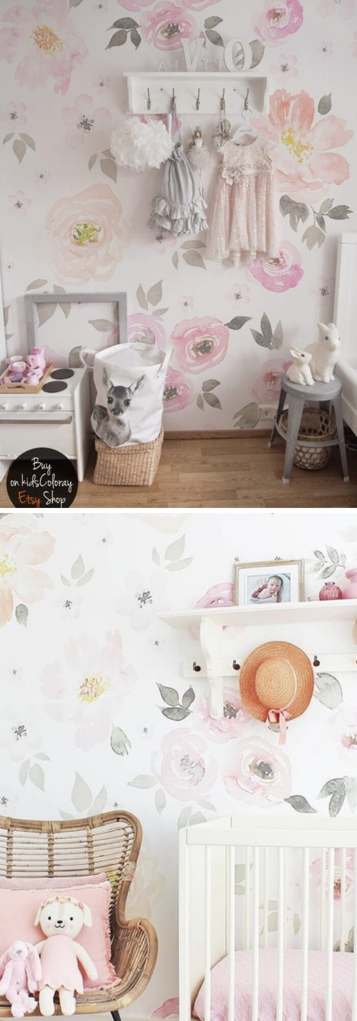 Home Decorating Ideas With Flowers: Vintage Floral wallpaper