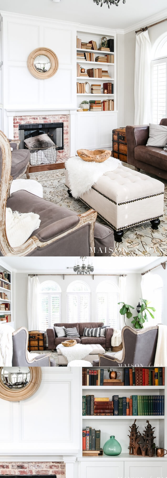 Transitioning from winter whites to neutrals, blues, and greens | Spring Spruce-Up - Quick, Cheap Home Décor Ideas | FarmFoodFamily.com