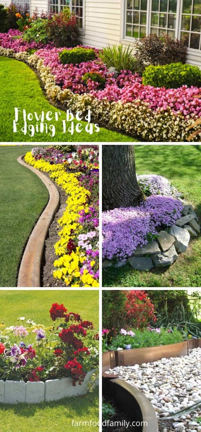Best flower bed garden edging ideas
