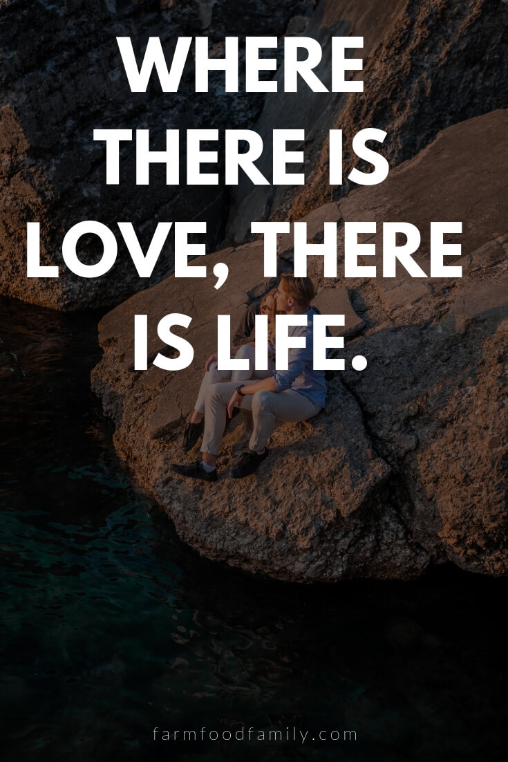 Cute, Funny, and Sweet Love Quotes For Him | Where there is love, there is life.