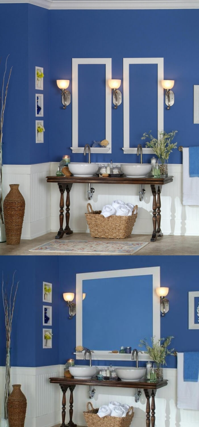 Classic Beadboard 8 foot Kit | Bathroom Wainscoting: Beadboard Panels in the Bathroom Design | FarmFoodFamily.com