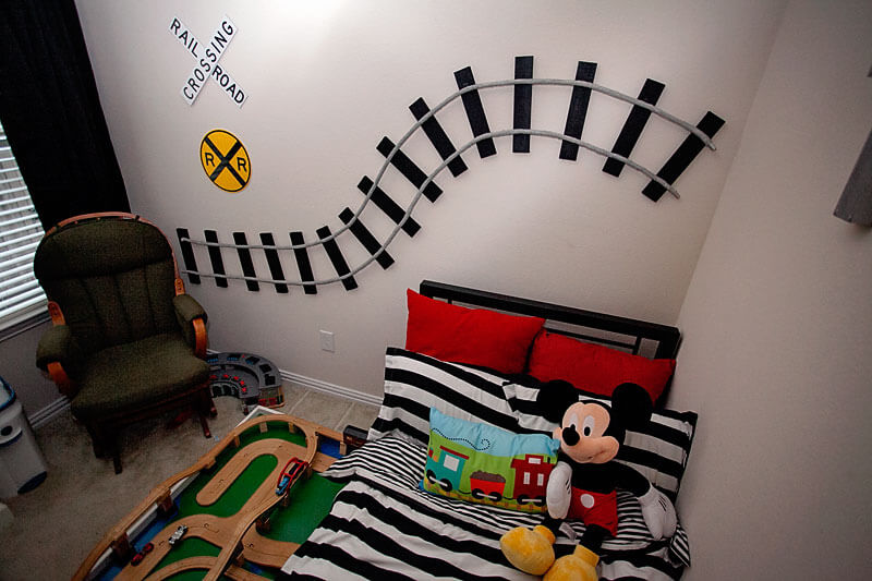 Start by Decorating the Walls of the Railroad Theme Bedroom | How to Decorate a Train Theme Bedroom: Design a Little Boy's Railroad Theme Room or Nursery
