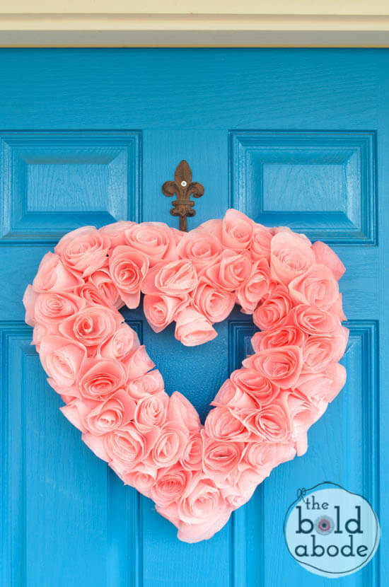Coffee Filter Heart Wreath | Environmentally-Friendly Valentine's Day Gifts
