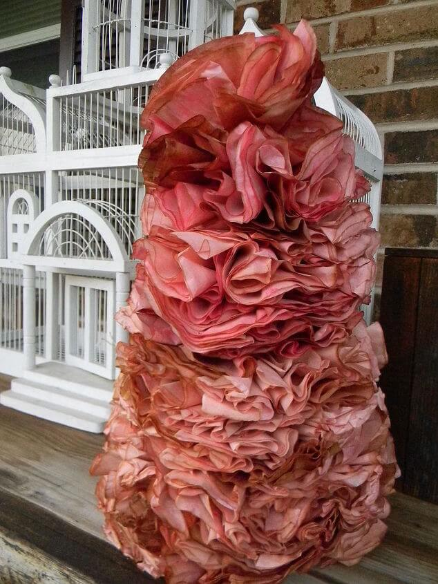 Rose Valentine's Day Coffee Filter Tree | Environmentally-Friendly Valentine's Day Gifts