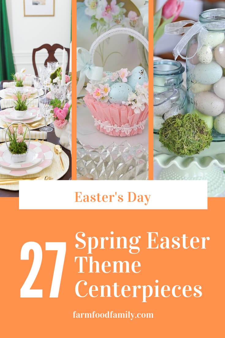 Spring easter theme centerpieces