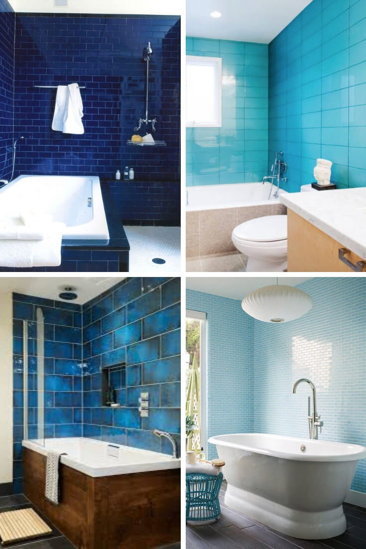 Blue Bathroom Tile Ideas 4 | Bathroom Tile Design: Ideas for Incorporating Tile into the Bathroom Design