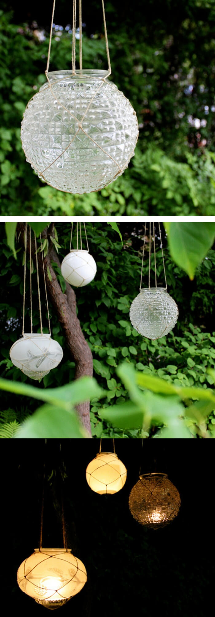 Garden Lighting: upcycled candle lanterns | Best DIY Repurposed Garden Tools Ideas | Garden Craft Ideas