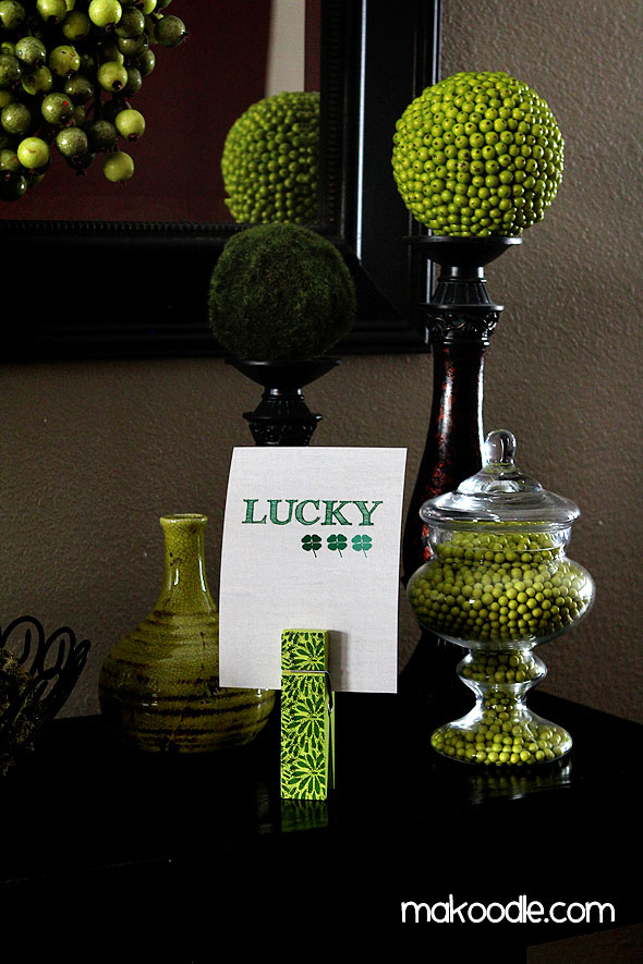 St. Patrick's Day Lucky Printable | Creative St. Patrick's Day Decor Ideas