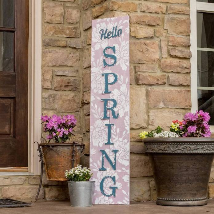 Hello Spring | Best Spring Porch Sign Decor Ideas & Designs