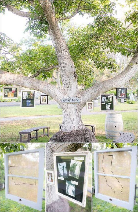 Photo Display for Wedding | Creative & Rustic Backyard Wedding Ideas For Summer & Fall