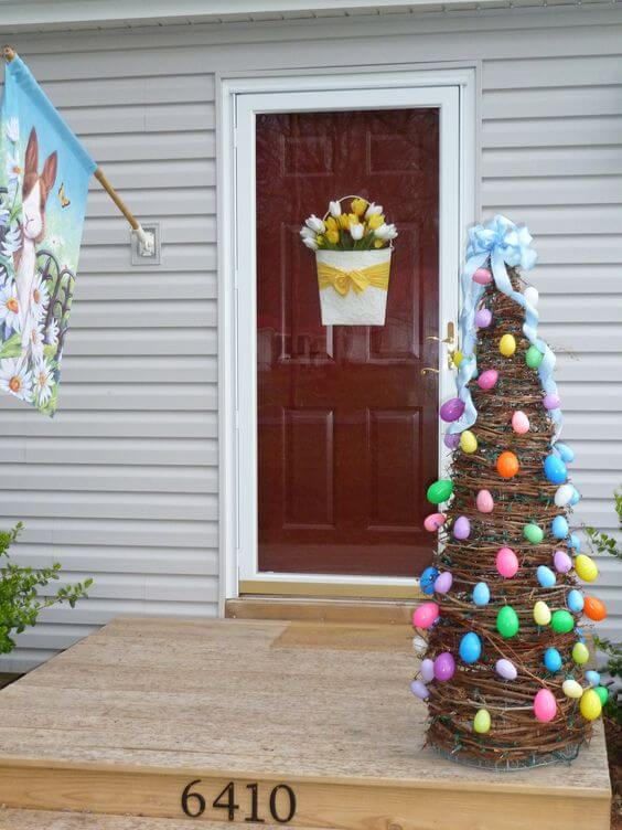 DIY Egg tree | Best Easter Porch Decorating Ideas