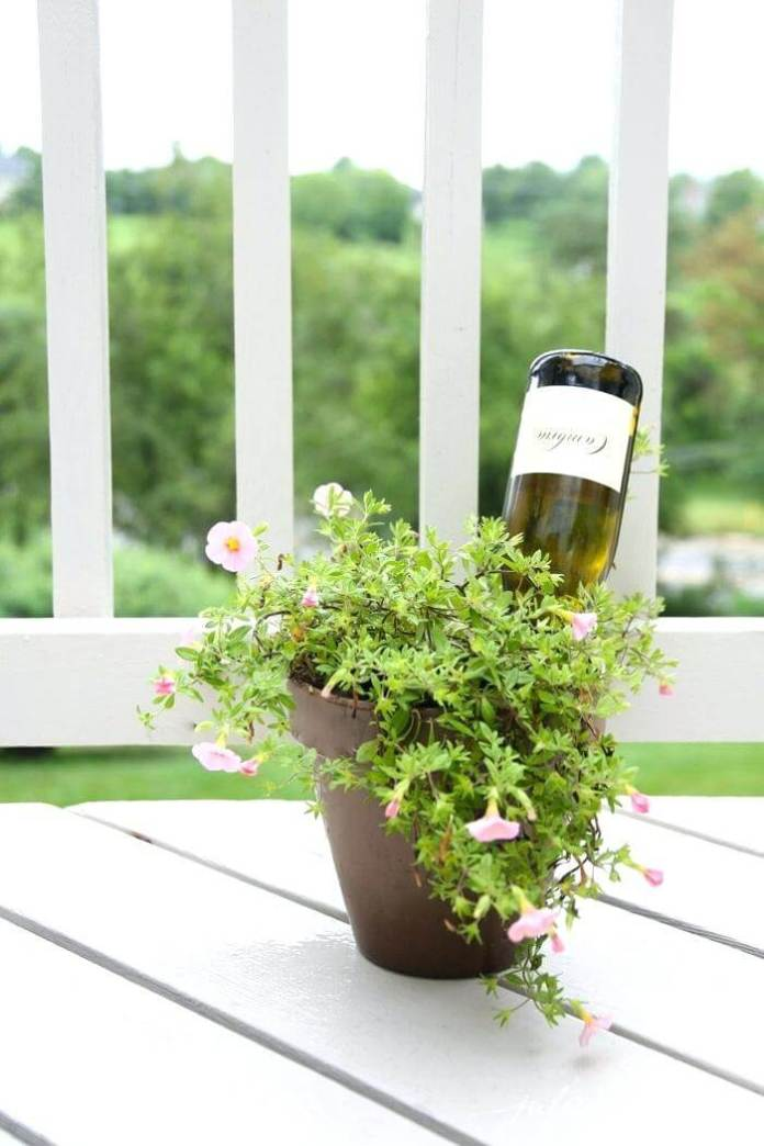Wine bottle self watering | Best DIY Self-Watering System Ideas