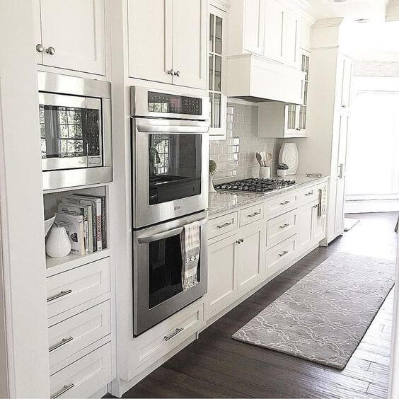 Classy White Kitchen | Best White Kitchen Cabinet Decor Ideas
