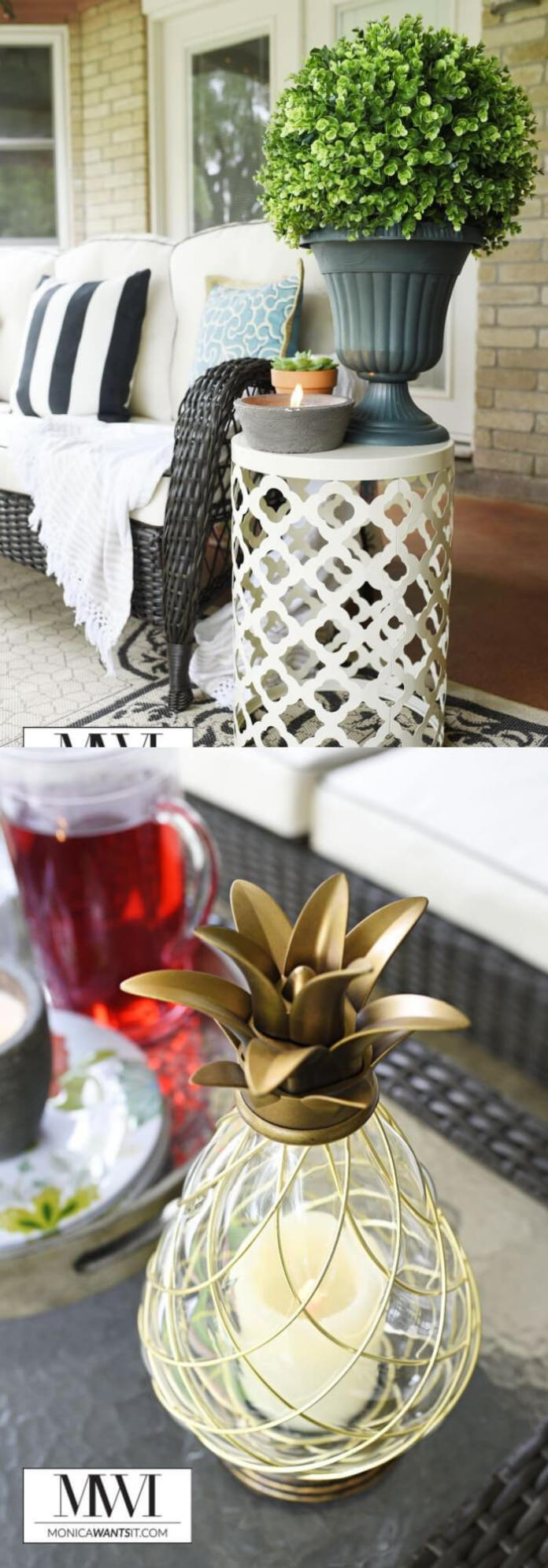 Cute pineapple lamp | Trending & Vintage Porch Lighting Ideas & Designs | FarmFoodFamily.com