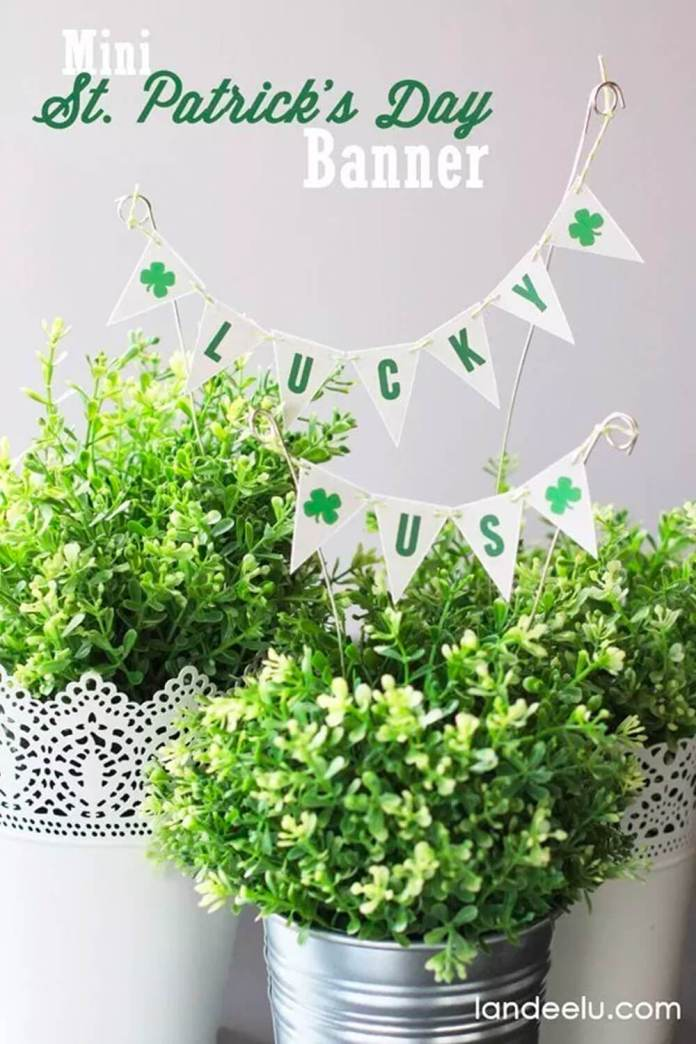 St. Patrick's Day banner | Creative St. Patrick's Day Decor Ideas